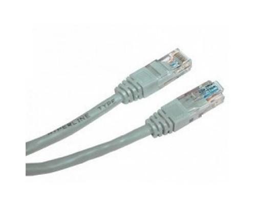 Cablexpert Патч-корд UTP PP12-1M кат.5, 1м, литой, многожильный (серый)