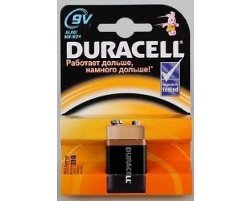 Duracell 6LR61-1BL/6LF22 9V (1 шт. в уп-ке) алкалиновые, крона MN1604 6LP3146/MN1604