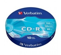 Verbatim и CD-R 10шт. 52x 700Mb, Shrink (43725)