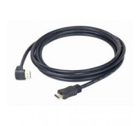 HDMI Gembird, 4.5м, v1.4, 19M/19M, угл. раз.,черный, позол.раз., экран, пакет CC-HDMI490-15