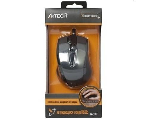 A-4Tech N-500F V-TRACK (серый глянец/черный) USB, 3+1 кл.-кн.,провод.мышь 641866
