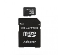 Micro SecureDigital 32Gb QUMO QM32(G)MICSDHC10 MicroSDHC Class 10, SD adapter