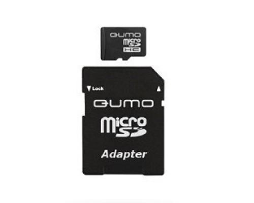 Micro SecureDigital 32Gb QUMO QM32(G)MICSDHC10 MicroSDHC Class 10, SD adapter