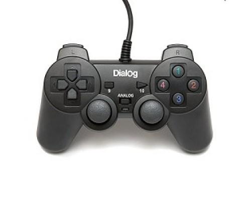 Геймпад Dialog Action GP-A11, черный Геймпад, вибрация, 12 кнопок, USB
