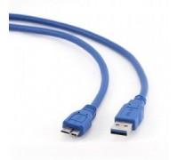 Gembird PRO USB 3.0 кабель для соед. 1.8м А-microB (5 pin) позол.конт., пакет CCP-mUSB3-AMBM-6