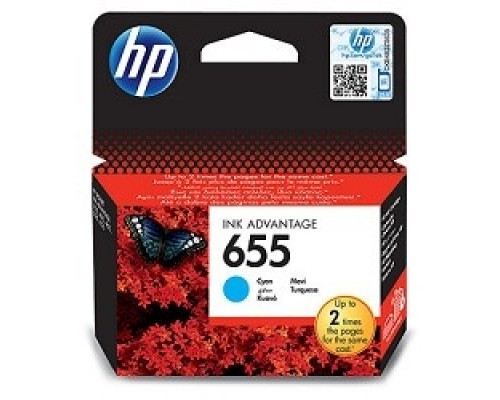 HP CZ110AE Картридж №655, Cyan DeskJet IA 3525/5525/4615/4625, Cyan