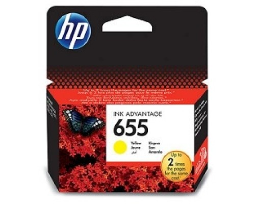 HP CZ112AE Картридж №655, Yellow DeskJet IA 3525/5525/4615/4625, Yellow