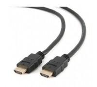 HDMI Gembird/Cablexpert, 0.5м, v1.4, 19M/19M, черный, позол.разъемы, экран (CC-HDMI4-0.5M)