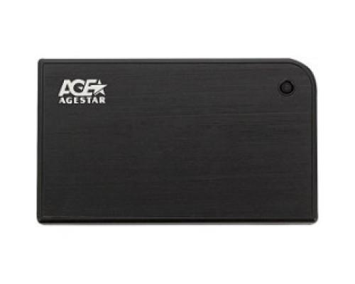Контейнер для HDD AgeStar 3UB2A14 BLACK USB 3.0 Внешний корпус 2.5 SATA