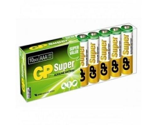 GP 24A-B10 Super Alkaline 24A LR03, 10 AAA (10 шт в уп-ке) 02900