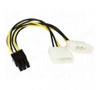 Bion Разветвитель питания 2xMolex->PCI-E 6pin, для подключения видеокарты к блоку питания BXP-CC-PSU-6