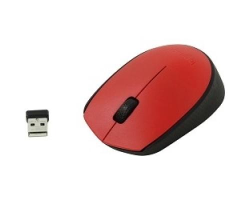 Мышь 910-004641 Logitech Wireless Mouse M171, Red