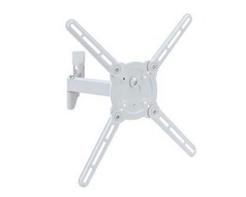 Кронштейн Kromax ATLANTIS-15 white (Наклонно-поворотный для LED TV 22-65, 4 ст. свободы, VESA 75/1