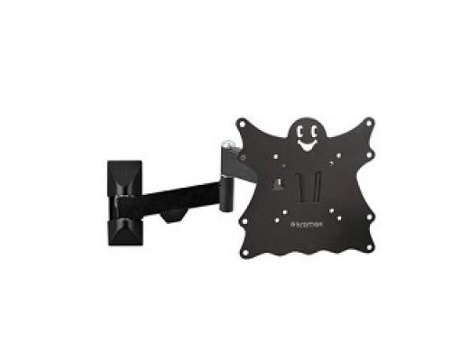 Кронштейн Kromax Casper-204 черный 20-43 макс.30кг настенный поворот и наклон