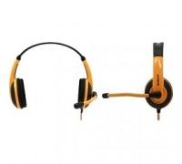 Defender Warhead G-120 черный + оранжевый, кабель 2 м 64099