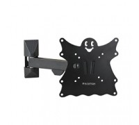Kromax CASPER-203 black, Кр. стал. наст. для TV 20-43, max 30 кг, 4 ст св., нак. +5°-15°, пов. 90°, от ст. 57-307 мм, max VESA 200x200 мм.