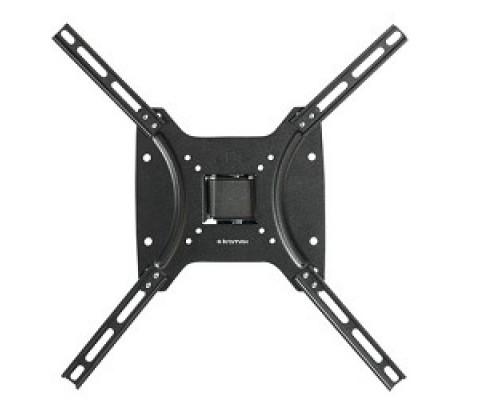 Kromax OPTIMA-402 black Кронштейн для LED/LCD телевизоров 15-55, max 25 кг, настенный, 3 ст свободы, наклон +5°-12°, поворот ±30°, от стены 68.5 мм, max VESA 400x400 мм,