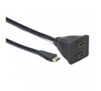 Cablexpert DSP-2PH4-002 HDMI Cablexpert DSP-2PH4-002, HD19F/2x19F, 1 компьютер => 2 монитора, пассивный, Full-HD, 3D, 1.4v