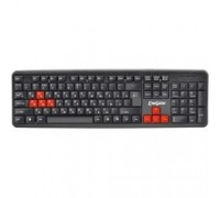 Exegate EX264080RUS Клавиатура Exegate LY-403, <USB, черная, 105кл, Enter большой, 8 красных клавиш> Color box