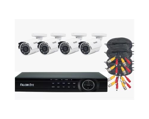 Falcon Eye FE-104MHD KIT ДАЧА SMART Комплект видеонаблюдения. Гибридный регистратор с поддержкой AHD/TVI/CVI/IP/Аналог. Алгоритм сжатия H.264,Запись 1080N/100 кад./сек
