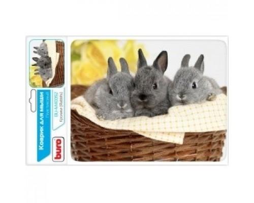 Коврики для мыши Buro BU-M40092 рисунок/кролики 291852