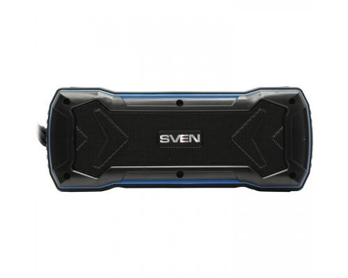 SVEN PS-220, черный-синий SV-016470 (10 Вт, Bluetooth, USB, microSD, FM-тюнер)
