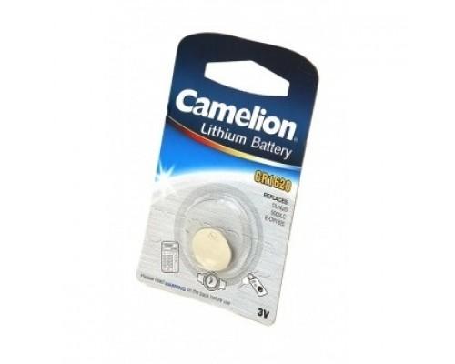 Camelion CR1620 BL-1 (CR1620-BP1, батарейка литиевая,3V) (1 шт. в уп-ке)