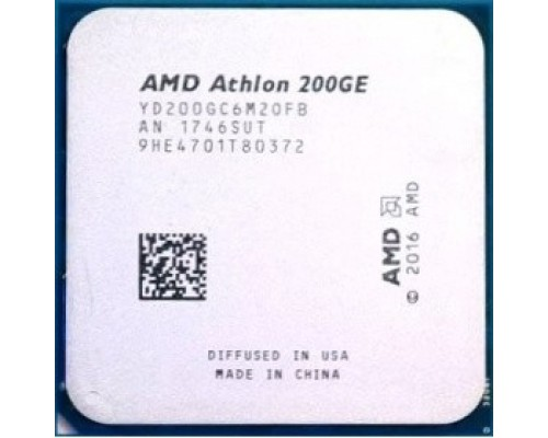 CPU AMD Athlon 200GE AM4 3.2 GHz/2core/1+4Mb/SVGA RADEON Vega 3/35W/Socket AM4 (OEM)