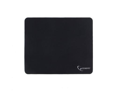 Коврик для мыши Gembird MP-BLACK, чёрный, размеры 220*180*1мм, полиэстер+резина