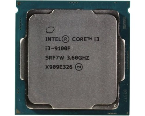 Процессор CPU Intel Core i3-9100F Coffee Lake BOX 3.60Ггц, 6МБ, Socket 1151v2