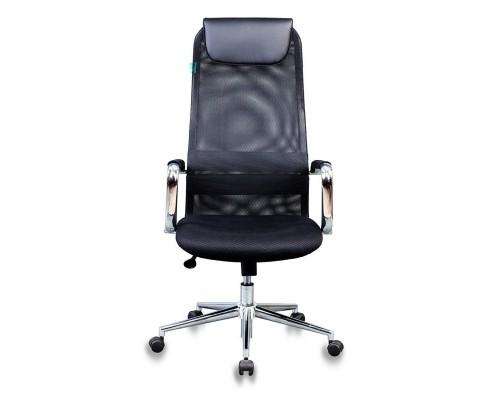 Кресло руководителя Бюрократ KB-9N/BLACK черный TW-01 TW-11 сетка крестовина хром 1140271