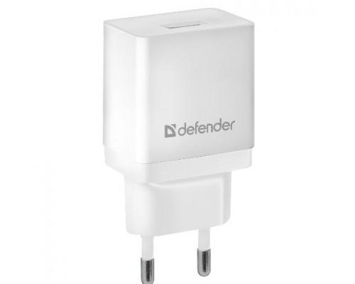 Defender Сетевой адаптер 1xUSB, 5V/2.1А, белый , пакет (EPA-10) (83549)