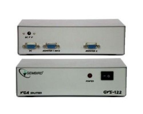 GVS122 Разветвитель сигнала VGA на 2 монитора (Gembird)