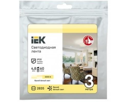 IEK LSR1-1-060-20-3-03 Лента LED 3м LSR-2835WW60-4,8-IP20-12В