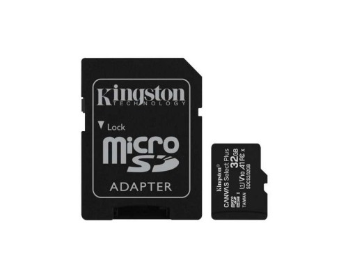 Micro SecureDigital 32Gb Kingston SDCS2/32GB MicroSDHC Class 10 UHS-I, SD adapter
