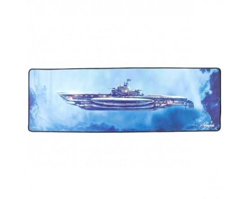 Коврик для мыши Гарнизон GMP-305, рисунок- подлодка, размеры 864*279*3мм, ткань+резина, оверлок