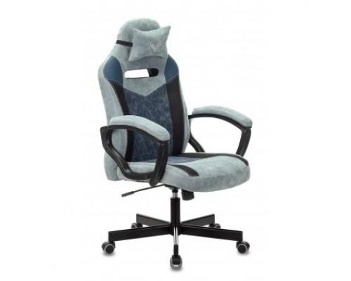 Кресло игровое Бюрократ VIKING 6 KNIGHT BL FABRIC синий крестовина металл 1380215