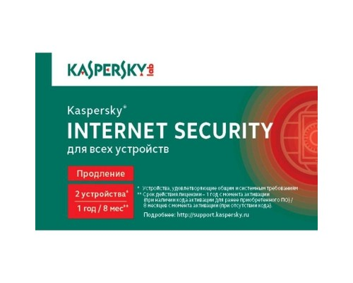 KL1939ROBFR Kaspersky Internet Security Russian Edition. 2-Device 1 year Renewal Card 909093 1402779