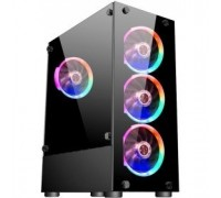1STPLAYER V2-A-4R1 FIRE DANCING V2-A / ATX, tempered glass / 4x 120mm LED fans inc. / V2-A-4R1