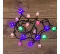 NEON-NIGHT 303-061 Гирлянда светодиодная Кубики 20 LED МУЛЬТИКОЛОР 2,8 метра с контроллером