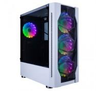 1STPLAYER DK D4 WHITE / ATX, tempered glass, metal mesh / 4x 120mm LED fans inc. / D4-WH-4G6
