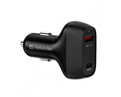 Defender Автомобильное ЗУ UCA-90 36W, USB QC3.0, Type-C/PD3.0 (83836)