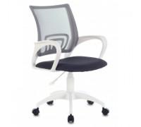 Кресло Бюрократ CH-W695NLT темно-серый TW-04 TW-12 сетка/ткань крестовина пластик пластик белый (1483034)