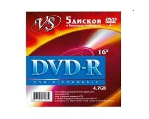 Диск Диски VS DVD-R 4.7Gb, 16x