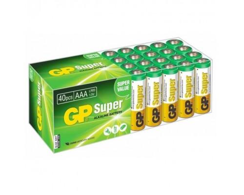 GP Super Alkaline 24A-B40 LR03, AAA (40 шт. в уп-ке) 10503 1/40